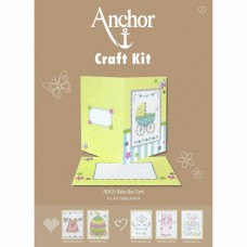 Cross-stitch kit for adults - Anchor Baby Boy card