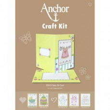 Cross-stitch kit for adults - Anchor Baby Girl card