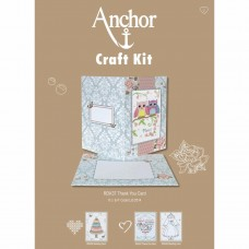 Cross-stitch kit for adults - Anchor Thank You Card