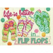 Cross-stitch kit for adults - Flip Flops