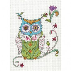 Cross-stitch kit for adults - Blooming Owl