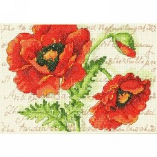 Cross-stitch kit for adults - Poppy Pair