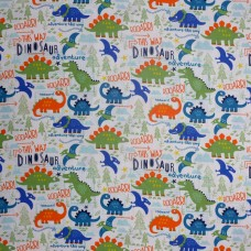 Visage textiles - Dino Adventure dinosaur print, sample