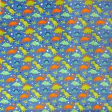 Visage textiles - Dino Assortment Blue dinosaur print, sample