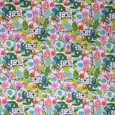 Visage textiles - Hide and Seek jungle animal print, sample