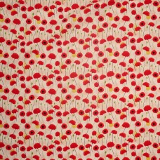 Visage textiles - Poppies white poppy floral print (per metre)