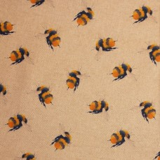 Linen look fabric Bees digiprint - sample