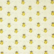 Rose & Hubble cotton poplin Bees on ivory - per metre