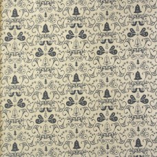 Christmas John Louden, grey bells on ecru - per metre