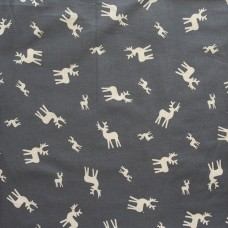 Christmas John Louden, ecru deer on grey - per metre