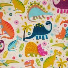 Visage textiles - Dino world dinosaur print (per metre)
