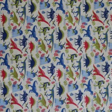 Visage textiles - Dino Land Multi dinosaur print, sample