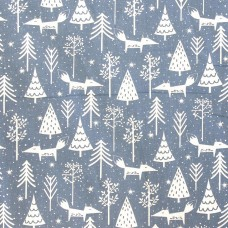 SALE Christmas John Louden, blue forest - per metre