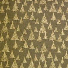 Christmas John Louden, ecru trees on grey - per metre