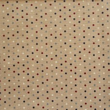 Linen look fabric Spots - sample