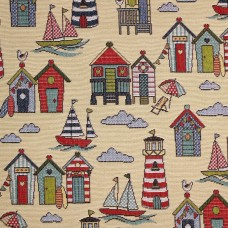 New World Tapestry look fabric Marine - sample