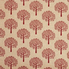 Linen look fabric Mulberry red - sample