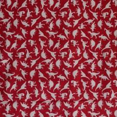 Visage textiles - Dino Land Red dinosaur print, sample