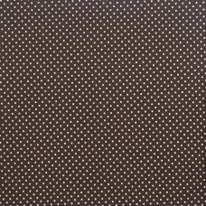 Cotton spot brown - per metre