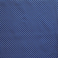 Cotton spot copen blue - per metre