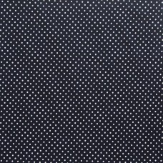 Cotton spot navy - per metre