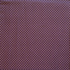 Cotton spot plum - per metre