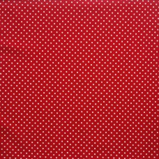 Cotton spot red - per metre