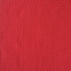 Christmas John Louden, ecru stars on red - sample