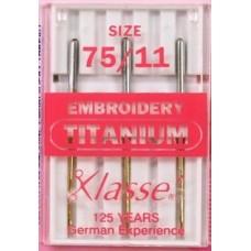 Machine needles, Klasse - Titanium embroidery 75/11