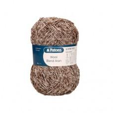 Patons Wool Blend Aran - 014 brown melange